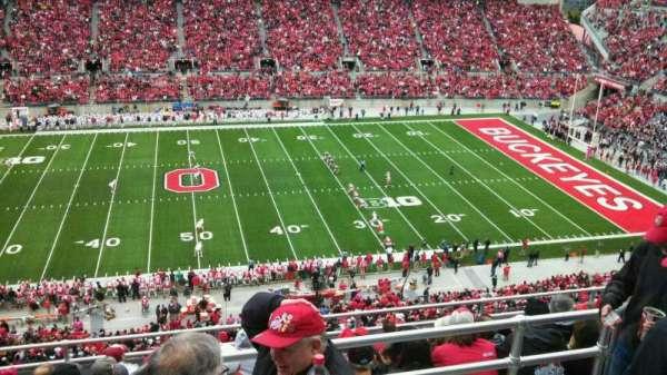 Ohio Stadium, secção: 21C, fila: 10, lugar: 5