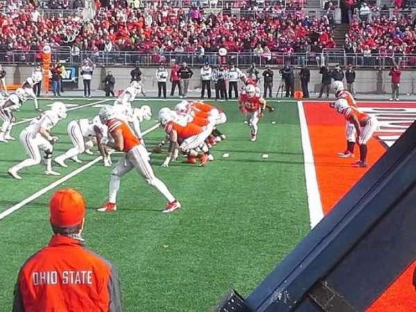 Ohio Stadium, secção: 25AA, fila: 1