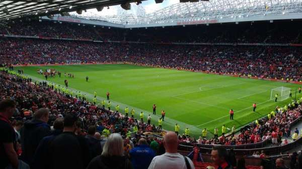 Old Trafford, secção: 230, fila: 27, lugar: 74