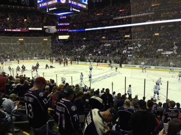 Nationwide Arena, secção: 112, fila: Q, lugar: 14