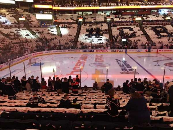 Nationwide Arena, secção: 116, fila: R, lugar: 8