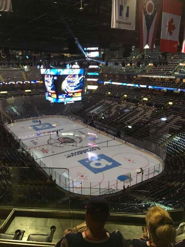 Nationwide Arena, secção: 212, fila: G, lugar: 14