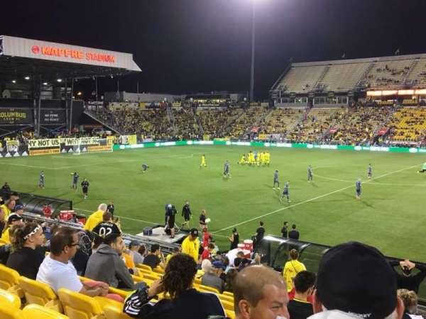 Mapfre Stadium, secção: 126, fila: 22, lugar: 1