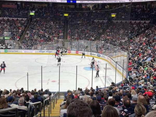 Nationwide Arena, secção: 112, fila: V, lugar: 25