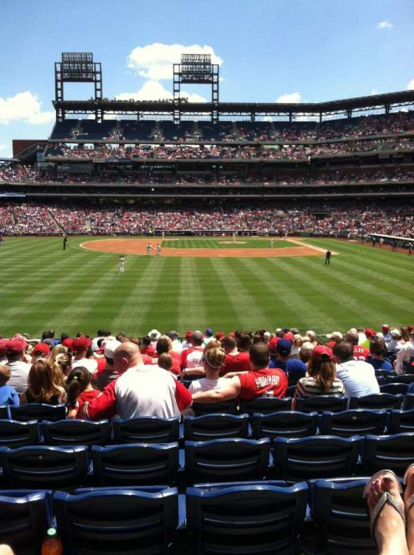 Citizens Bank Park, secção: 143, fila: 19, lugar: 6