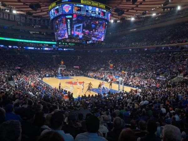 Madison Square Garden, secção: 110, fila: 13, lugar: 19