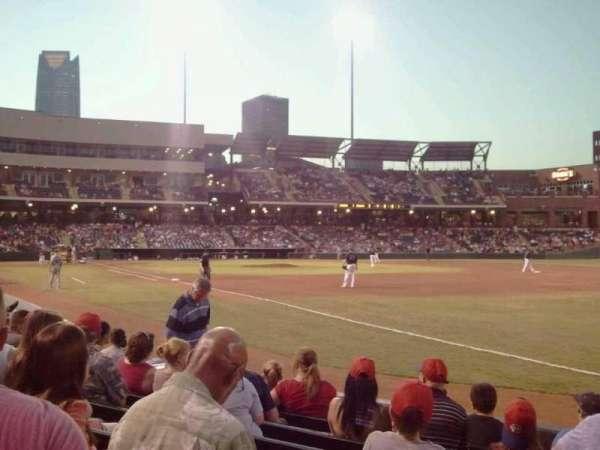 Chickasaw Bricktown Ballpark, secção: 118, fila: G, lugar: 4
