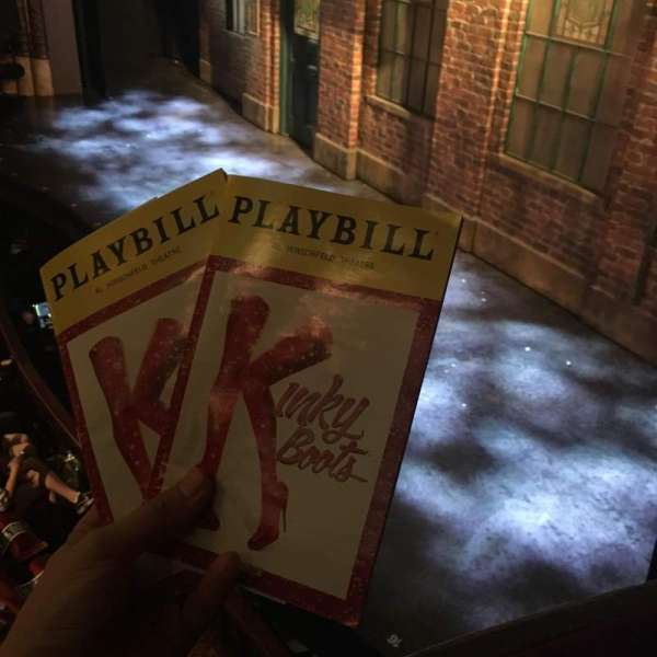 Al Hirschfeld Theatre, secção: Right Box, fila: A, lugar: 1