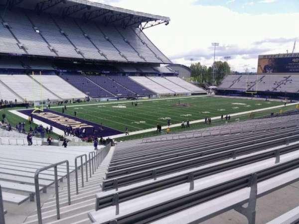 Husky Stadium, secção: 111, fila: 40, lugar: 55