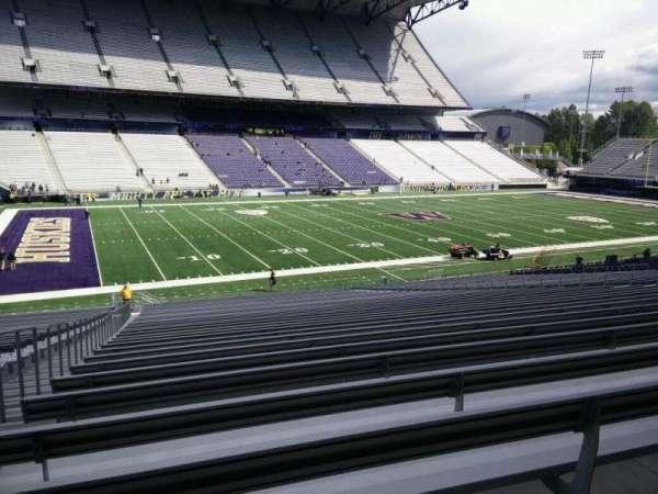 Husky Stadium, secção: 109, fila: 40, lugar: 25