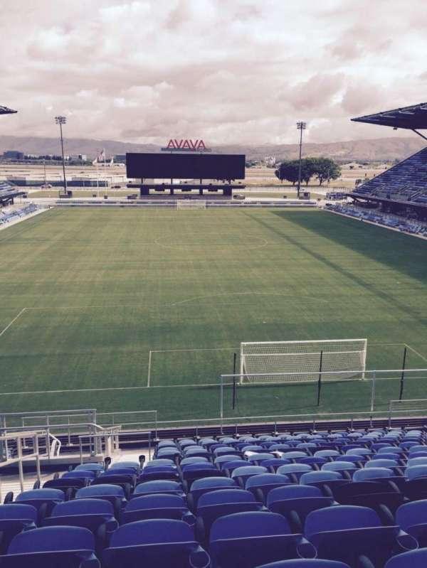 Avaya Stadium, secção: 117, fila: 17, lugar: 16