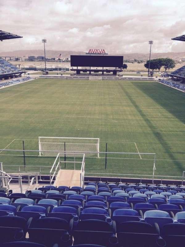 Avaya Stadium, secção: 118, fila: 15, lugar: 12