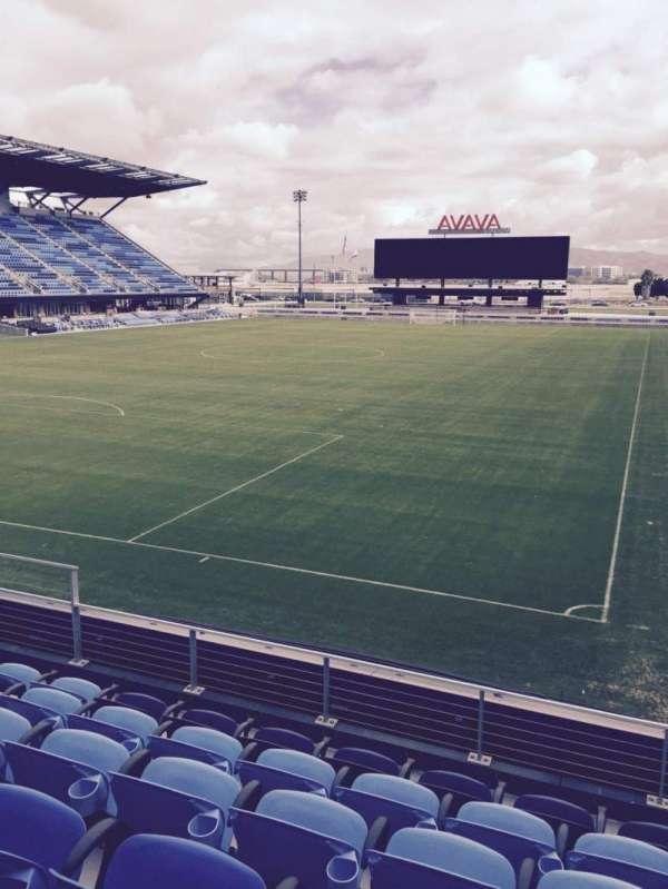 Avaya Stadium, secção: 121, fila: 6, lugar: 12