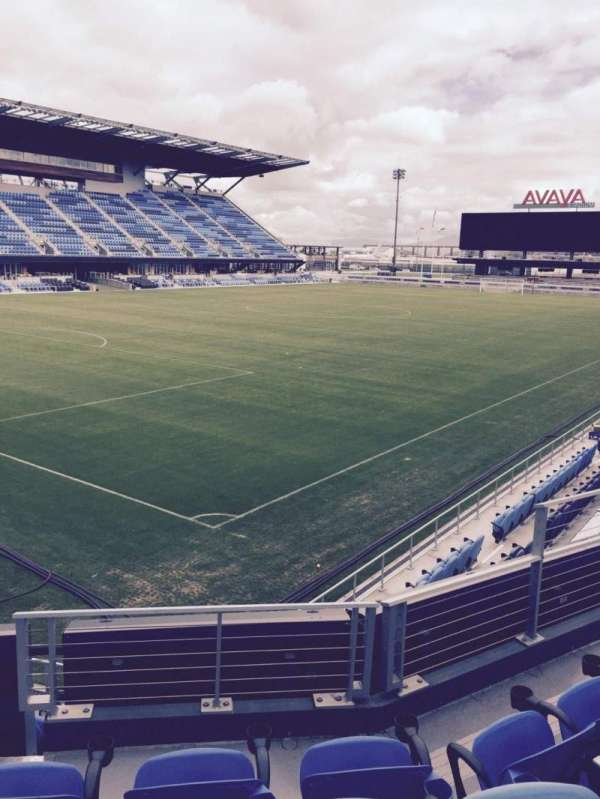 Avaya Stadium, secção: 122, fila: 4, lugar: 7