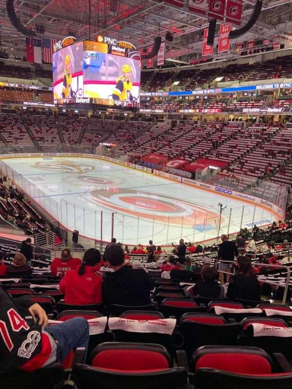 PNC Arena, secção: 114, fila: XX, lugar: 4