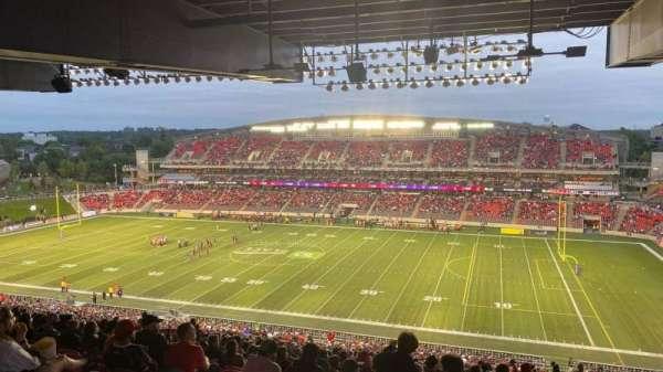 TD Place Stadium, secção: CC, fila: 23, lugar: 11