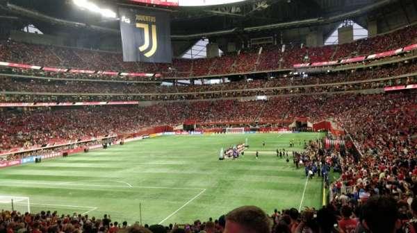 Mercedes-Benz Stadium, secção: 134, fila: 33, lugar: 38
