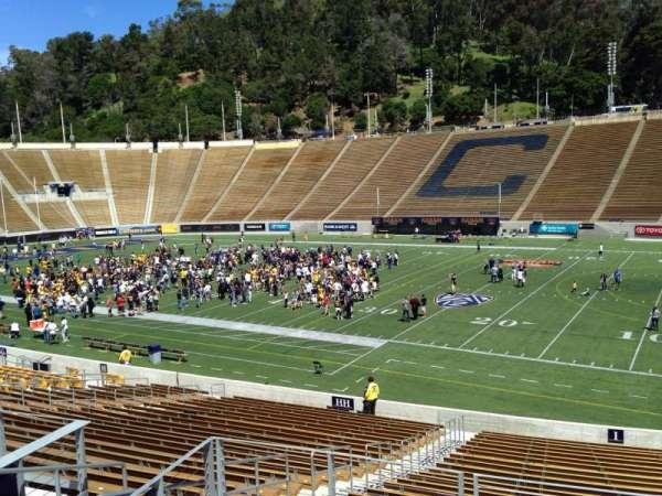 California Memorial Stadium, secção: I, fila: 27, lugar: 26