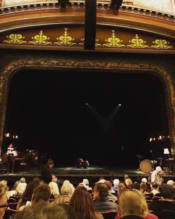 Belasco Theatre, secção: Orchestra C, fila: L, lugar: 107