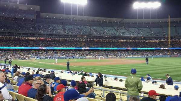 Dodger Stadium, secção: 40FD, fila: G, lugar: 5