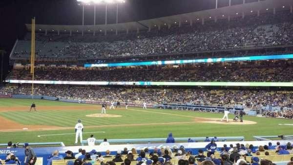 Dodger Stadium, secção: FD25, fila: O, lugar: 1