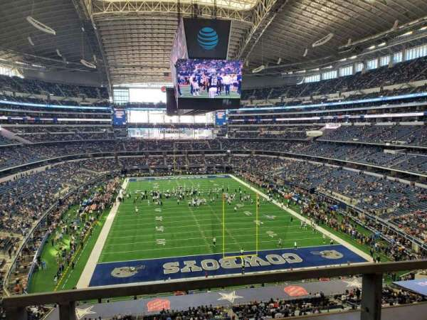 AT&T Stadium, secção: 349, fila: 1, lugar: 4-5