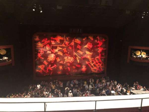 Minskoff Theatre, secção: Mezzanine, fila: E, lugar: 120