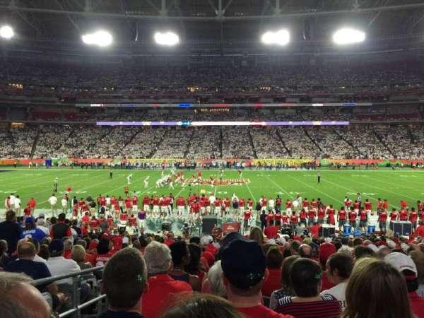 State Farm Stadium, secção: 108, fila: 21, lugar: 17