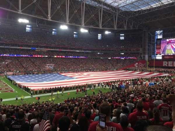 State Farm Stadium, secção: 113, fila: 34, lugar: 35