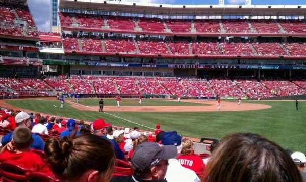 Great American Ball Park, secção: 134, fila: I, lugar: 9