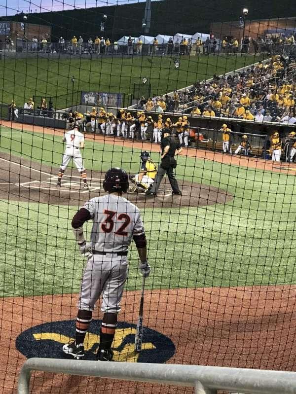 Monongalia County Ballpark, secção: 102, fila: D, lugar: 24