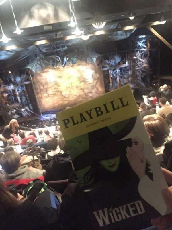 Gershwin Theatre, secção: Rear Mezzanine C, fila: L, lugar: 109