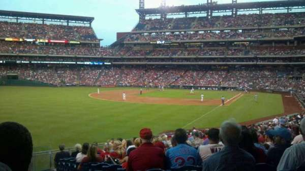 Citizens Bank Park, secção: 140, fila: 19, lugar: 1