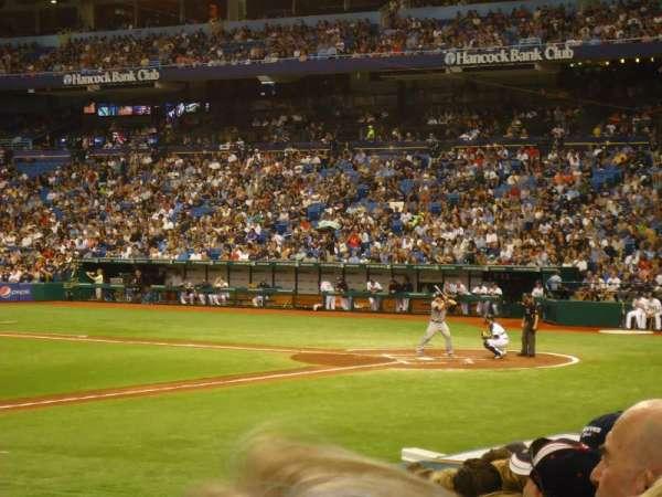 Tropicana Field, secção: 121, fila: T, lugar: 1