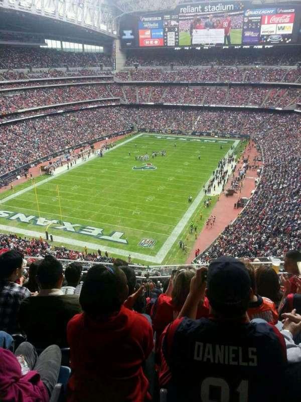 NRG Stadium, secção: 618, fila: E, lugar: 11