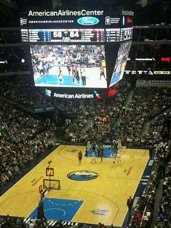 American Airlines Center, secção: 333, fila: A, lugar: 15