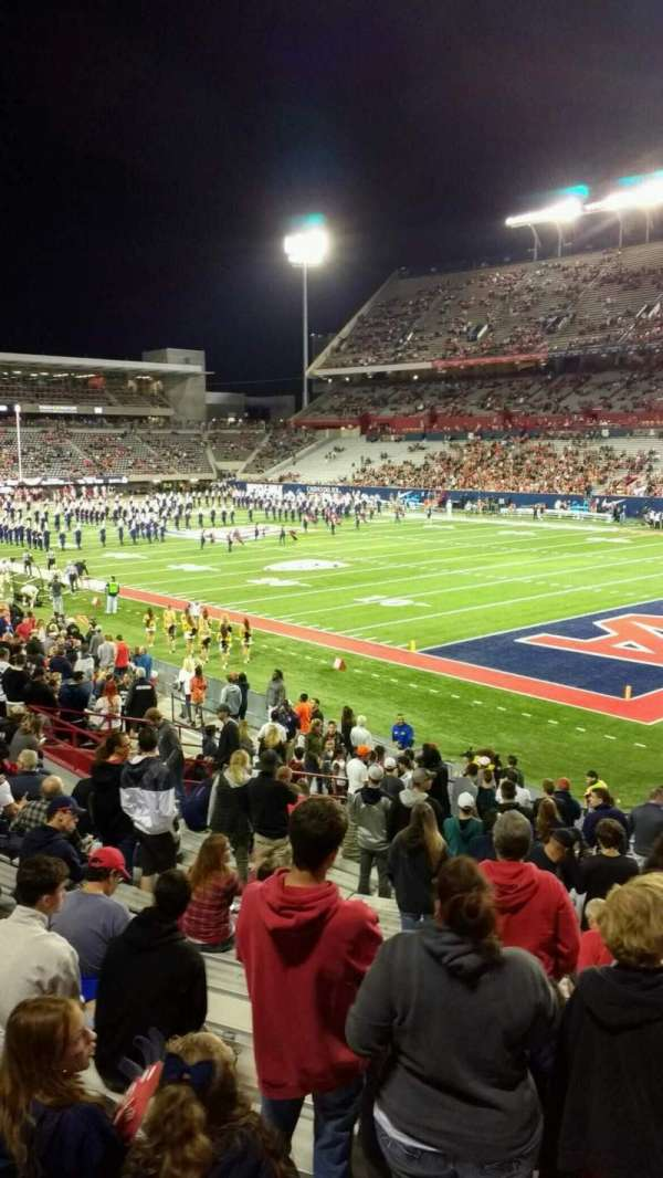 Arizona Stadium, secção: 16, fila: 25, lugar: 5