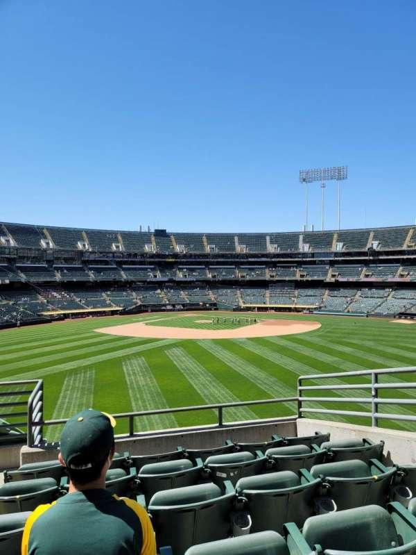 Oakland Coliseum, secção: 145, fila: 44, lugar: 5