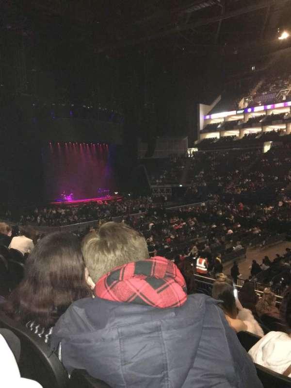 The O2 Arena, secção: 102, fila: R, lugar: 86