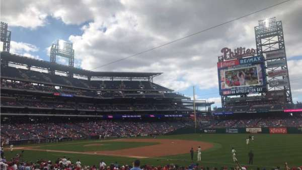Citizens Bank Park, secção: 112, fila: 23, lugar: 13