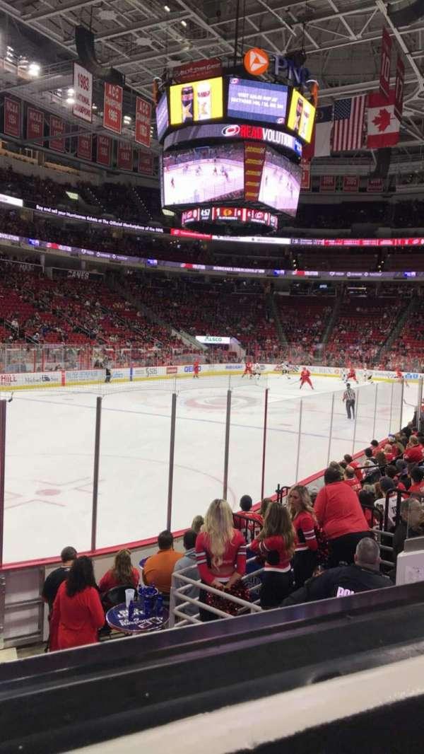 PNC Arena, secção: 108, fila: K, lugar: 11