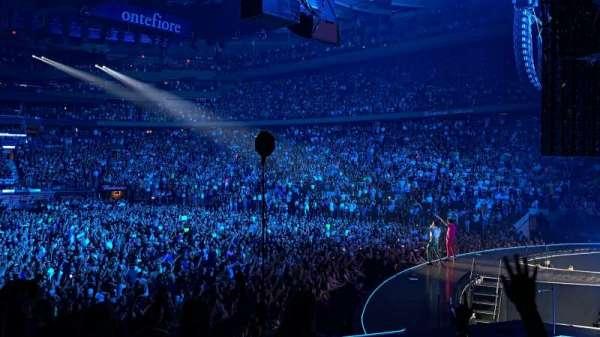 Madison Square Garden, secção: 110, fila: 10, lugar: 1