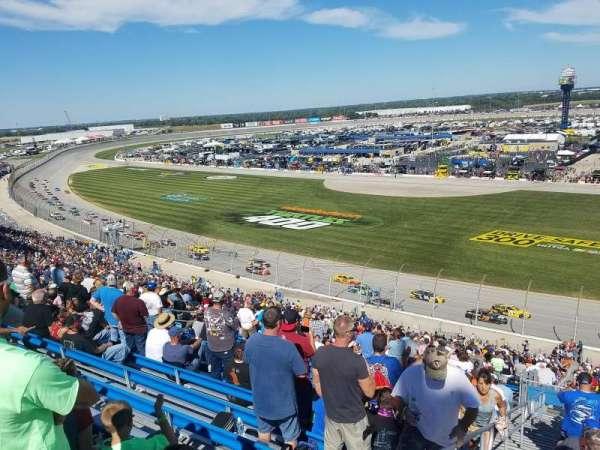 Chicagoland Speedway, secção: 110, fila: 52, lugar: 22