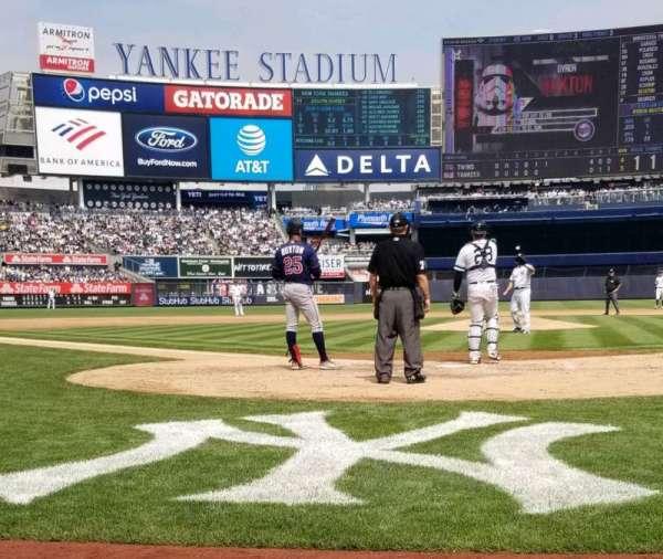 Yankee Stadium, secção: 019, fila: 1, lugar: 3,4