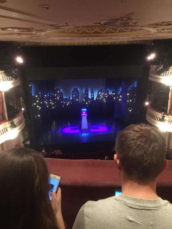 Criterion Theatre, secção: Upper circle, fila: B, lugar: 18
