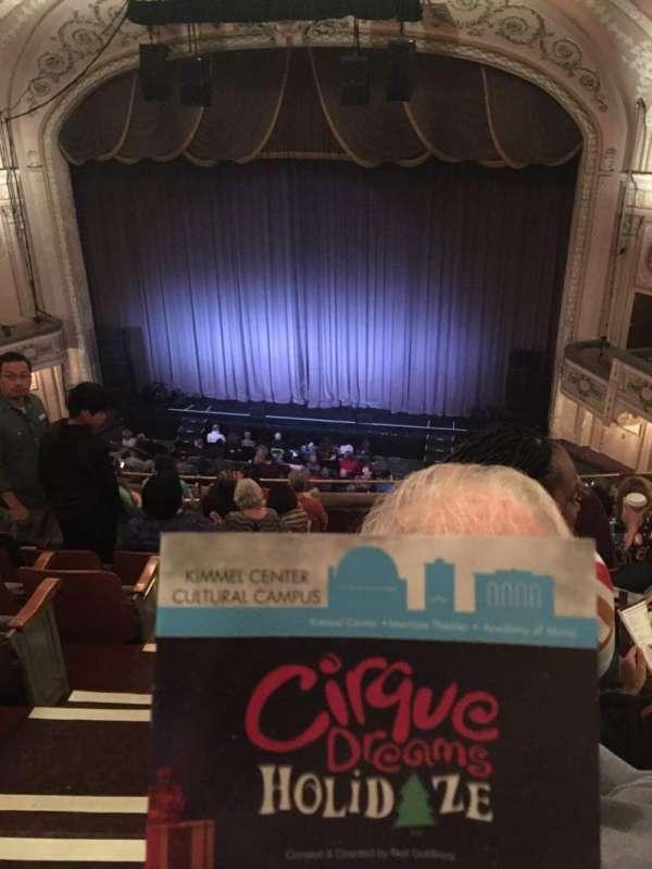 Merriam Theater, secção: Balcony R, fila: K, lugar: 2