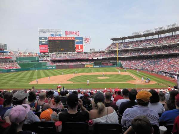 Nationals Park, secção: 117, fila: NN, lugar: 5