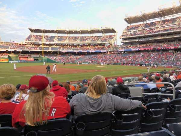 Nationals Park, secção: 113, fila: M, lugar: 7