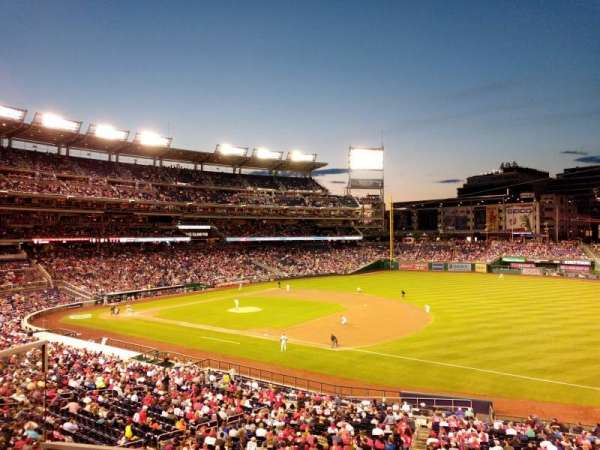 Nationals Park, secção: 223, fila: B, lugar: 8