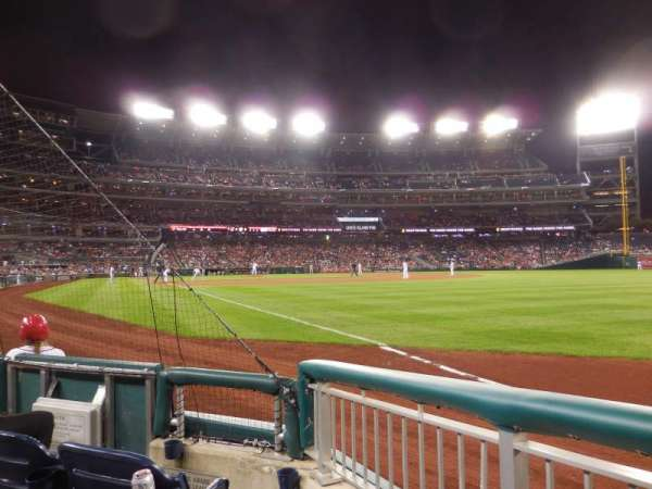 Nationals Park, secção: 136, fila: C, lugar: 2